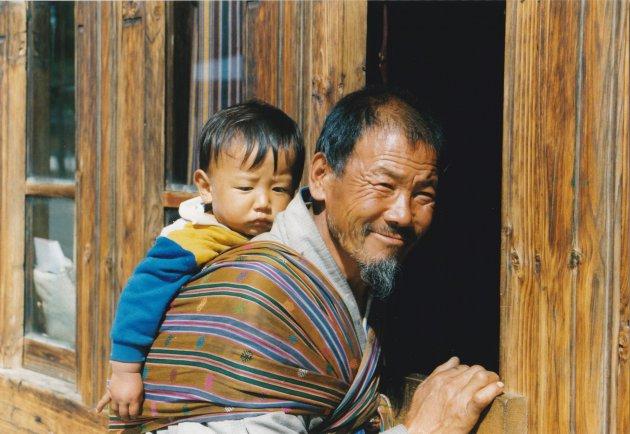 Opa met kleinkind