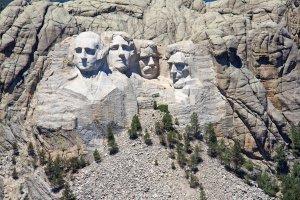 Presidenten in een rots