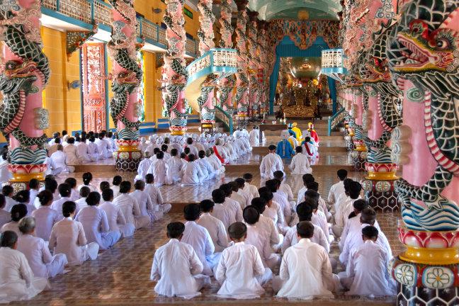 Harmonie in de Cao Dai tempel