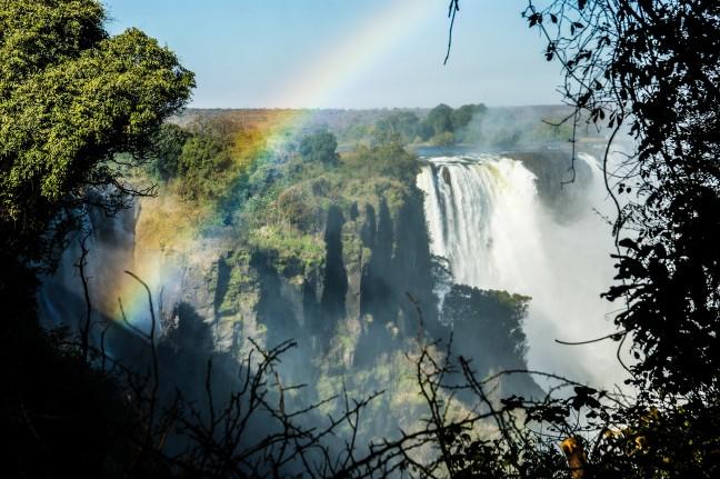 Doorkijkje op de Vic Falls
