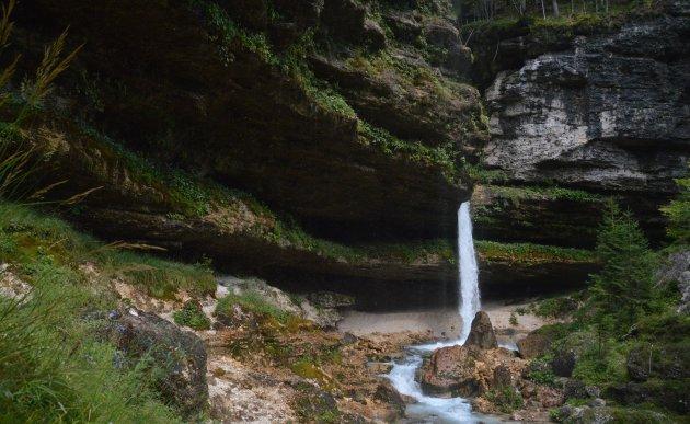 Pericnik waterval, bovenste, kleinere deel.