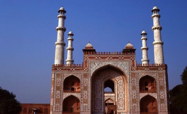 Tombe van Moghul keizer Akbar de Grote