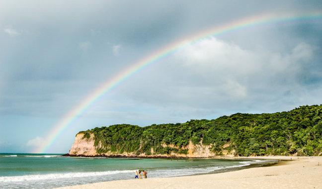 Rainbow at Praia do madeiro