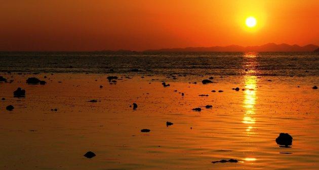 Railay Beach bij Zonsondergang