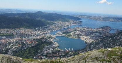 Ulriken berg mooiste uitzicht van Bergen