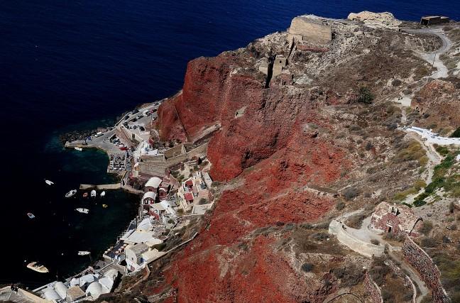 Santorini van bovenaf !