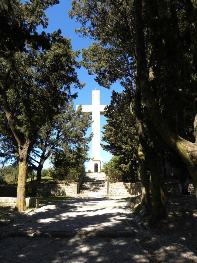 Het kruis op de berg van Filerimos