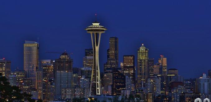 The Seattle Skyline, mooi overdag, 's avonds op zijn mooist!