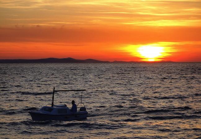Dalmatische zonsondergang