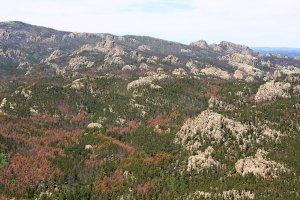 Met een heli over de Black Hills