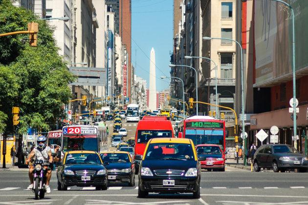 Taxi's en Obelisk