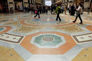 Ook op de vloer lijnen en vormen...