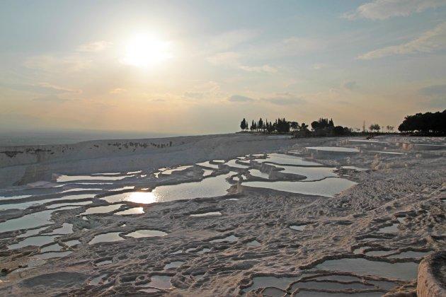 zonsondergang Pamukkale