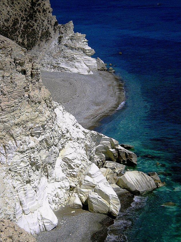 Krijtkust op Cyprus