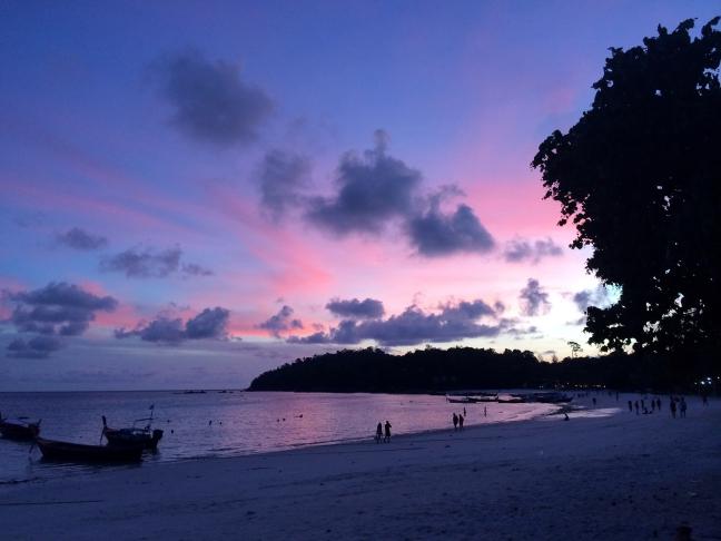 Zachte sunset