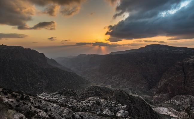 Uitzicht over Dana Wildlife reserve