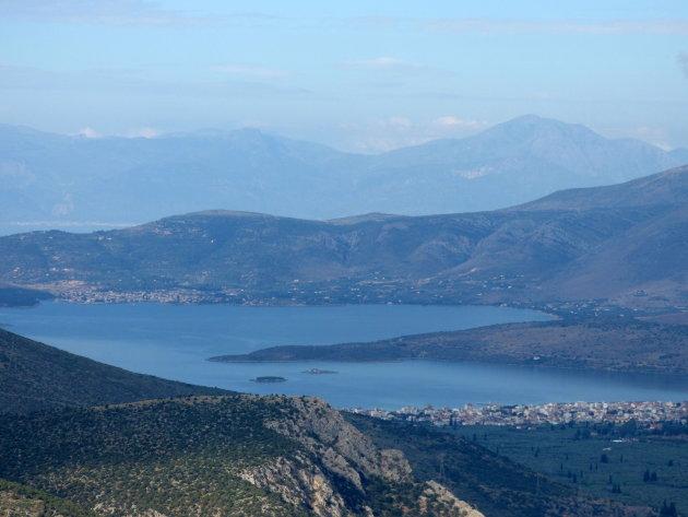 Uitzicht op de Golf van Korinthe