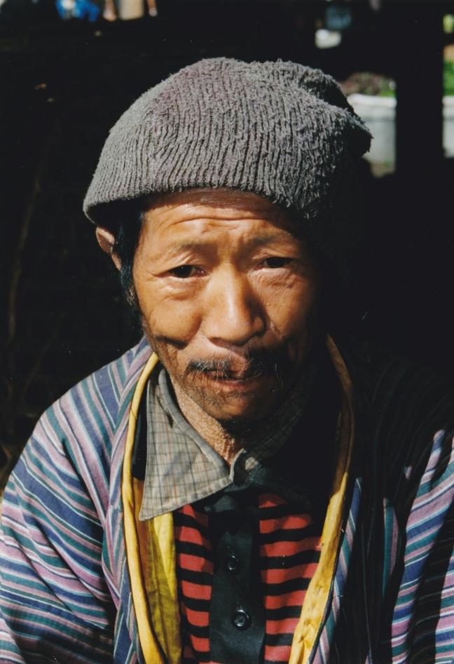 Marktkoopman in Thimpu