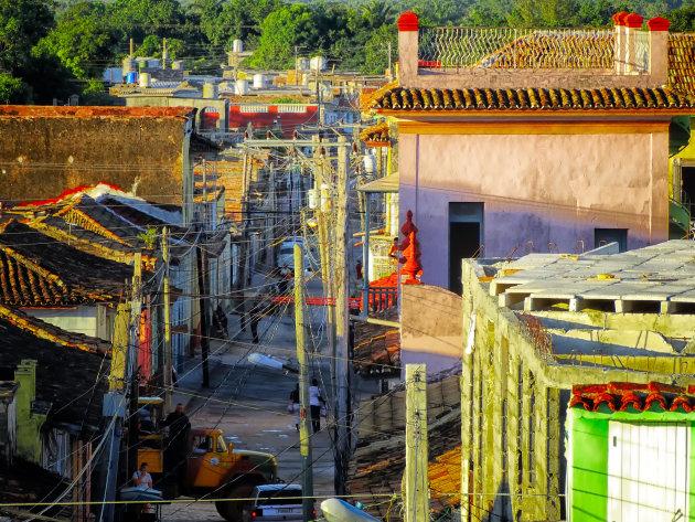 Vanaf het dak in Trinidad
