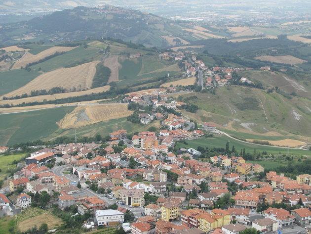 Uitzicht vanaf Città di San Marino