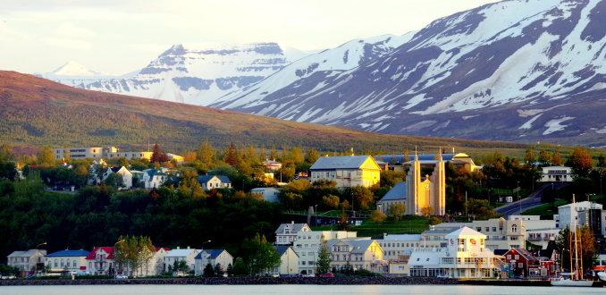 Middernachtzon in Akureyri