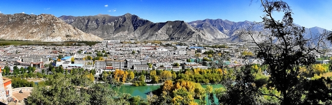 Panorama-uitzicht over Lhasa