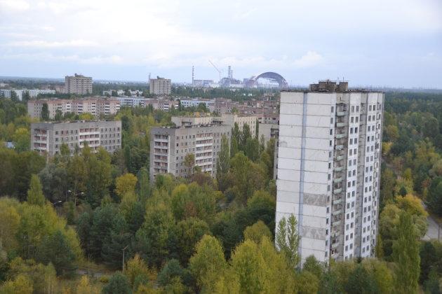 Pittoresk uitzicht over omgeving Tsjernobyl