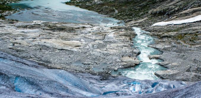 Smeltende gletsjer