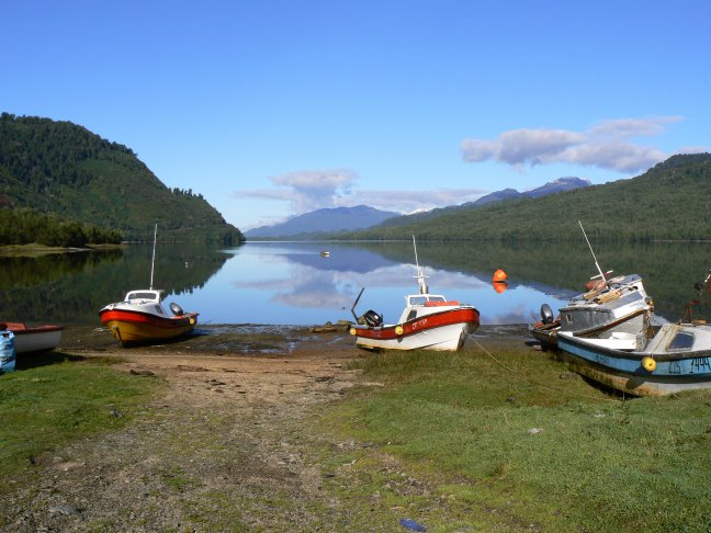 Vissersboten bij Puyuhuapi