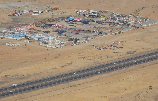 Uitzicht vanaf Jebel Hafeet