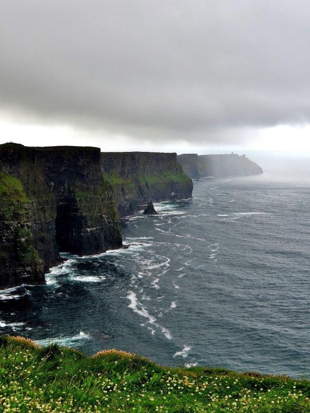 Een bui nadert de Cliffs