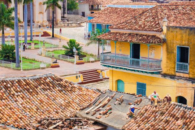 Uitzicht op het Plaza Mayor