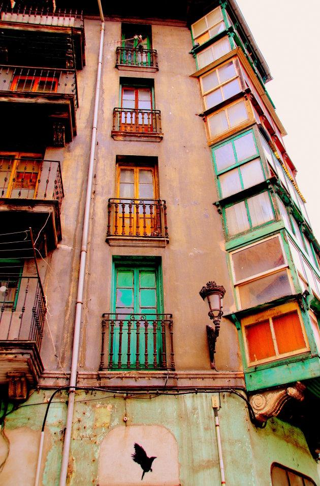De balkons van Santander