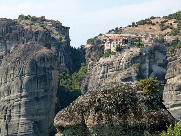De twee grootste kloosters van Meteora