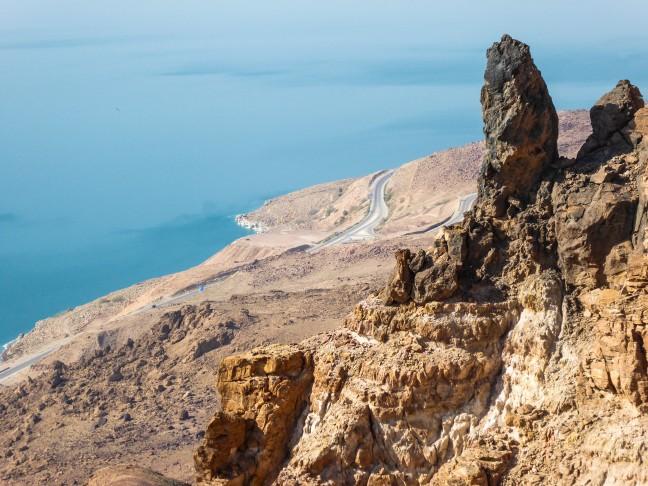 Uitzicht vanuit Dead Sea Panoramic Complex