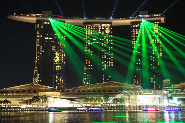 Marina bay by night