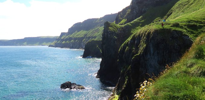 De kust bij Carrick-a-Rede