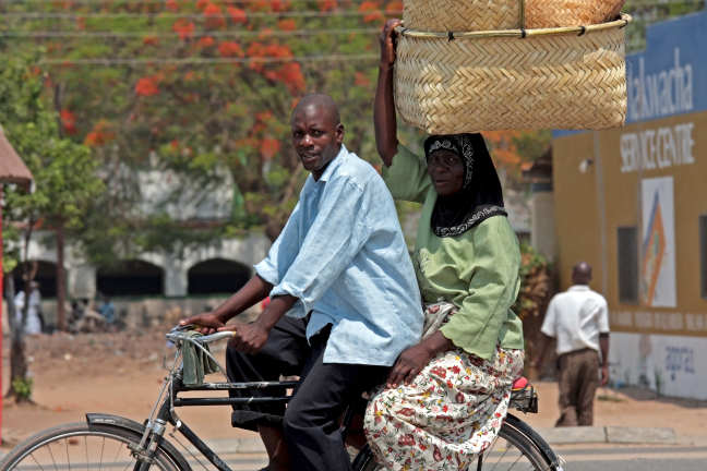 Met de fietstaxi