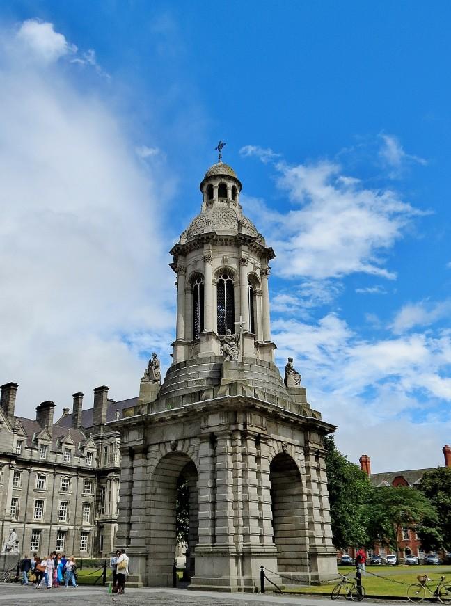 De klokketoren van Trinity College