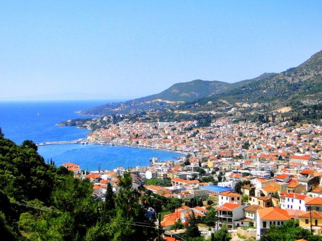 Uitzicht op Samos stad