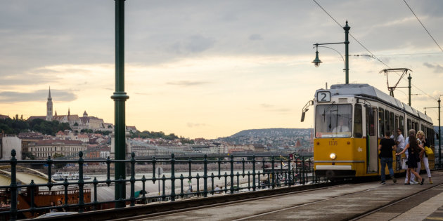 De tram in Boedapest
