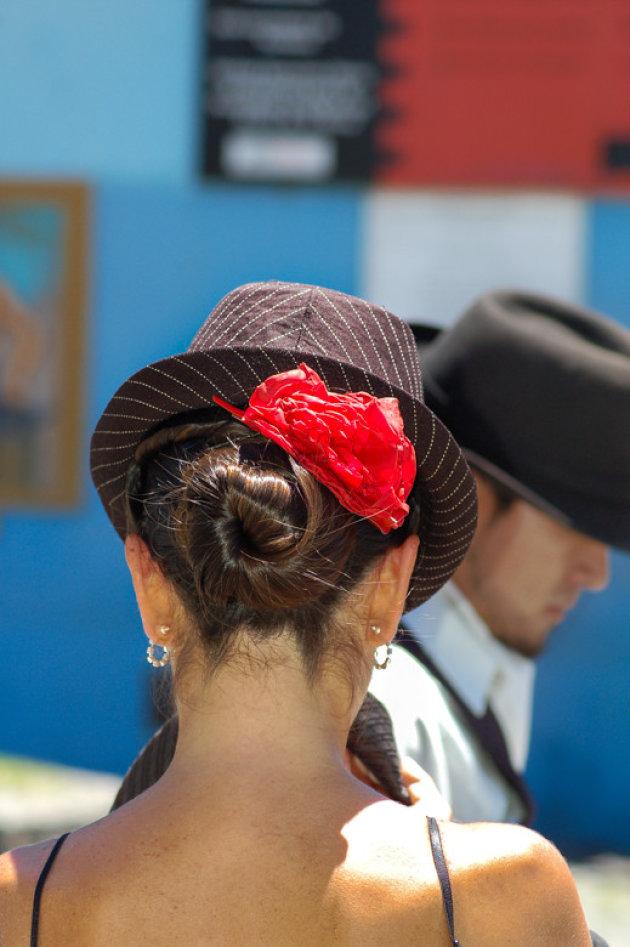 Tango dansen in La Boca