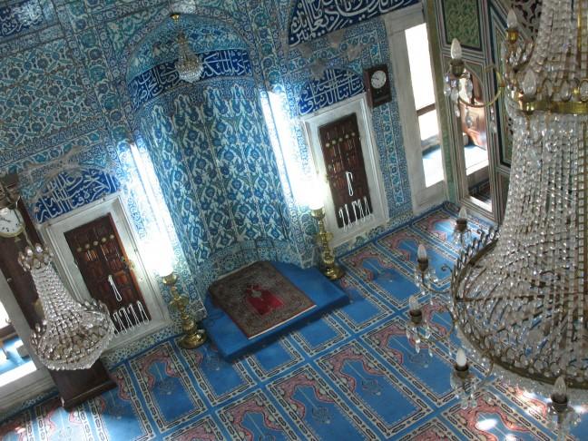 Een echt blauwe moskee
