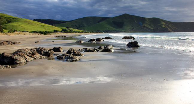 Verlaten strandje