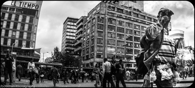 De bellenblazer van Bogota.