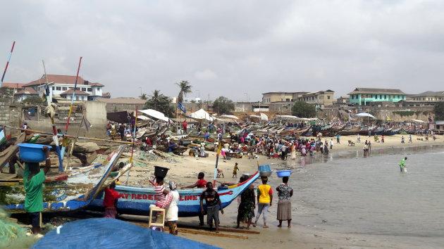 Bloeiende strandhandel .