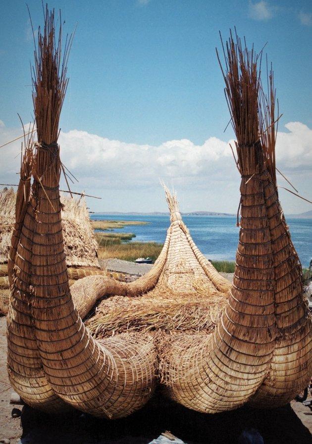 Papyrusboot Titicacameer