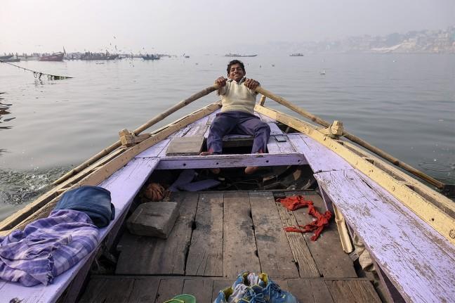 Boot trip op de Ganges