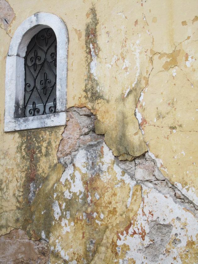 Een mooi detail van een oude kerk