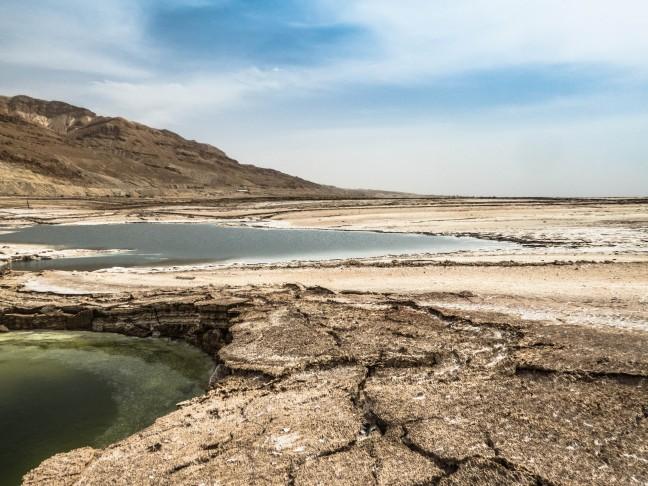 De zoutblokken van de Dode Zee